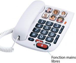 Téléphone fixe pour personne âgée Alcatel TMAX 10